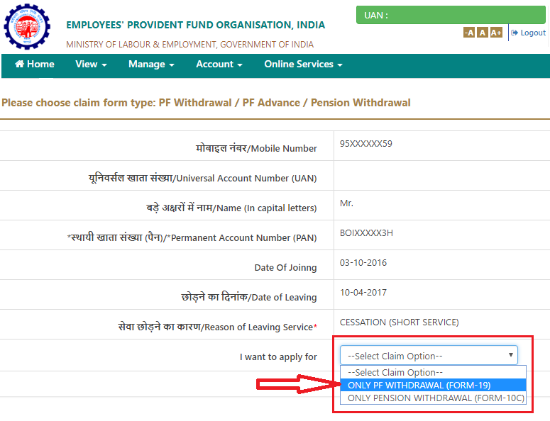Submitting Online Claims Withdrawal Settlement Ibm India Separations